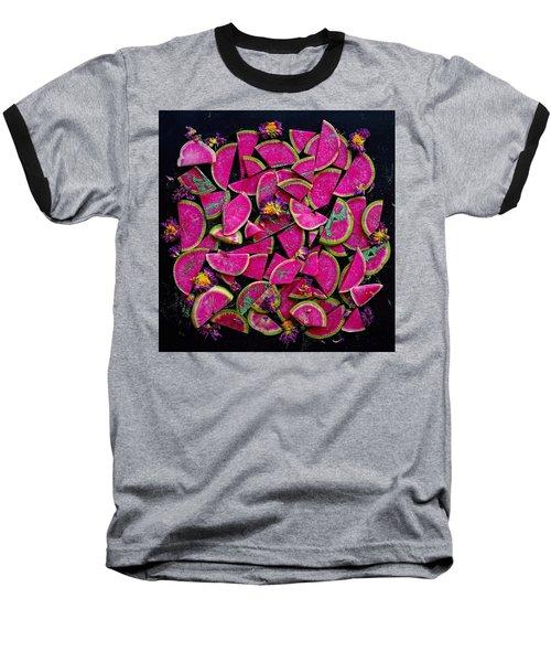 Watermelon Radish Edges Baseball T-Shirt