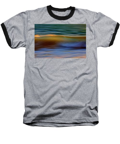 Wave Abstact Baseball T-Shirt