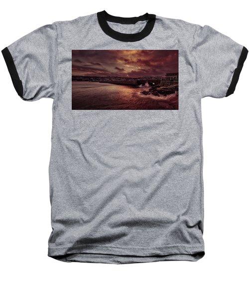 Wave At The Pier Baseball T-Shirt