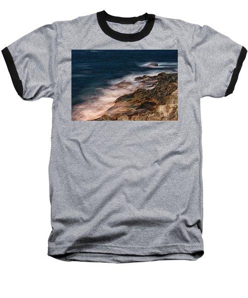 Waves And Rocks At Sozopol Town Baseball T-Shirt