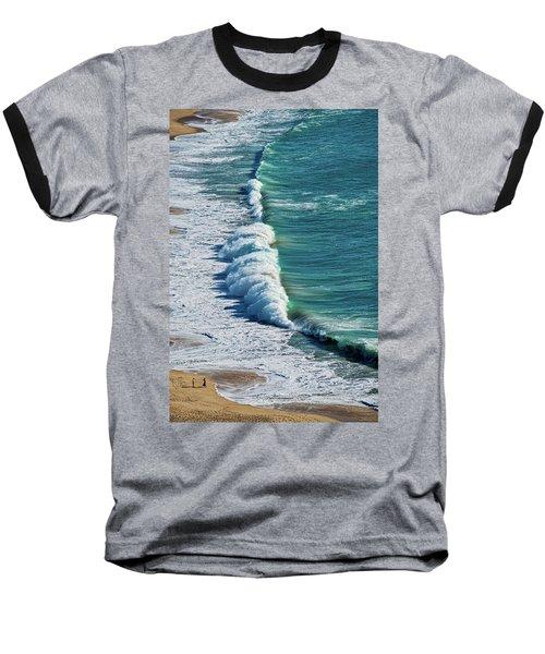 Waves At Nazare Beach - Portugal Baseball T-Shirt
