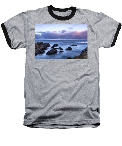 Waves At The Shore In Vesteralen Recreation Area Baseball T-Shirt
