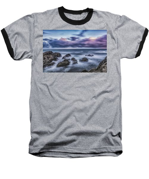 Waves At The Shore Baseball T-Shirt
