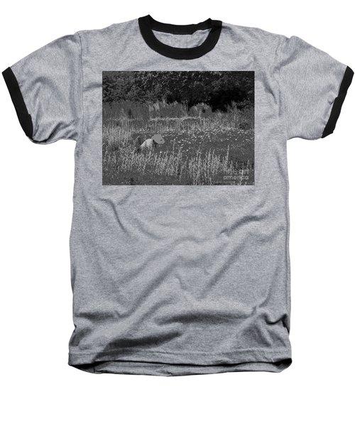 Weeding The Garden Baseball T-Shirt