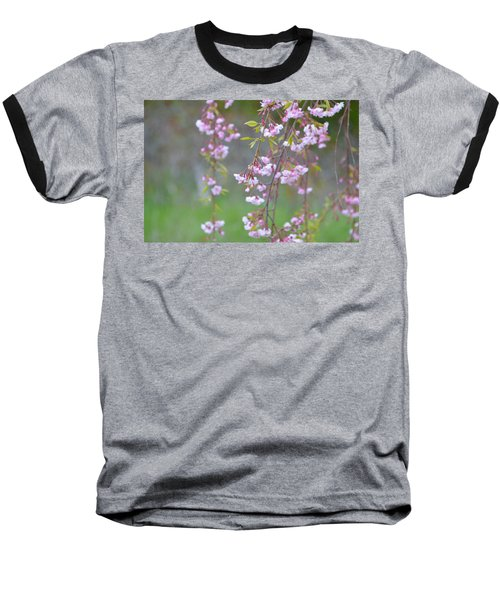 Weeping Cherry Blossoms Baseball T-Shirt