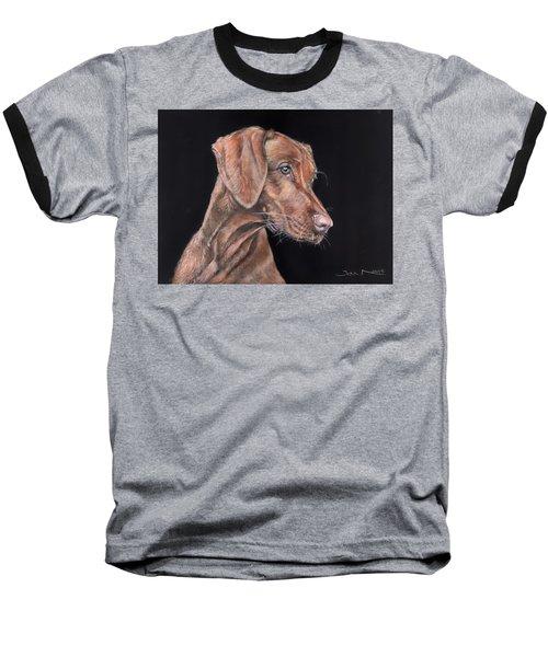 Weimaraner Portrait Baseball T-Shirt