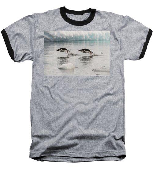 When Penguins Fly Baseball T-Shirt
