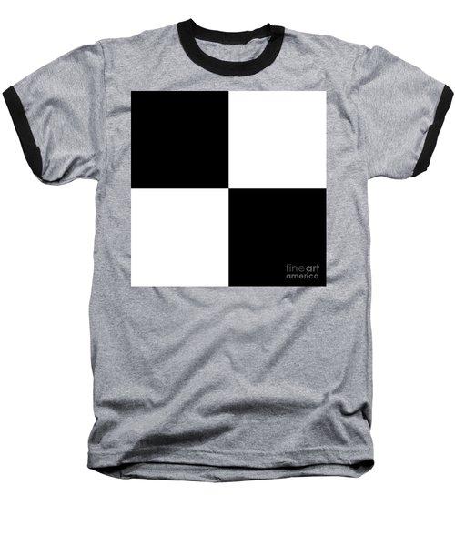 White And Black Squares - Ddh586 Baseball T-Shirt