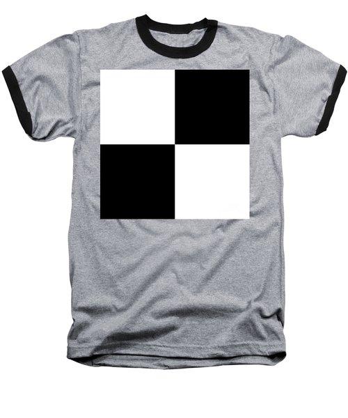 White And Black Squares - Ddh588 Baseball T-Shirt