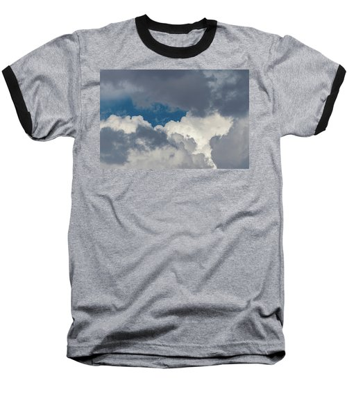 White And Gray Clouds Baseball T-Shirt