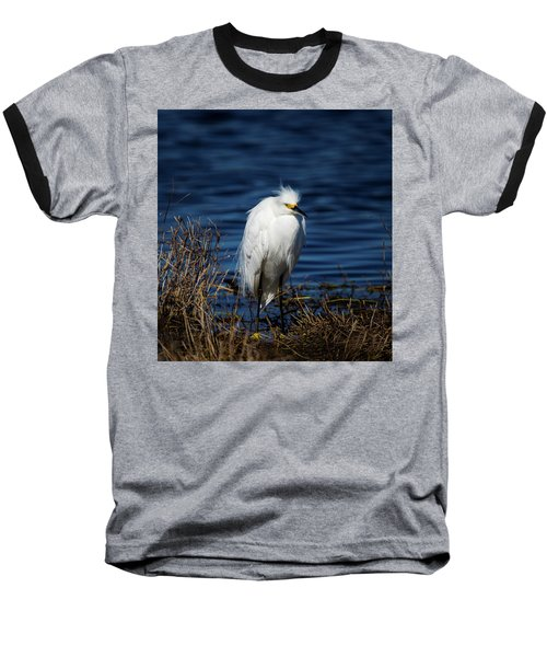 White Egret Baseball T-Shirt