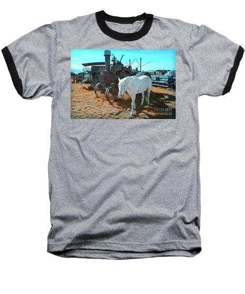 White Horse Iron Horse Baseball T-Shirt