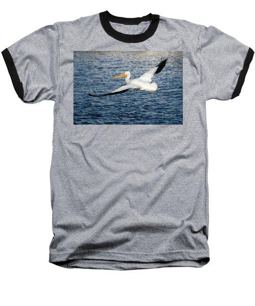 White Pelican Wingspan Baseball T-Shirt
