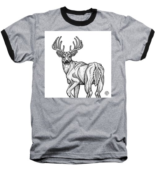 White Tailed Buck Baseball T-Shirt
