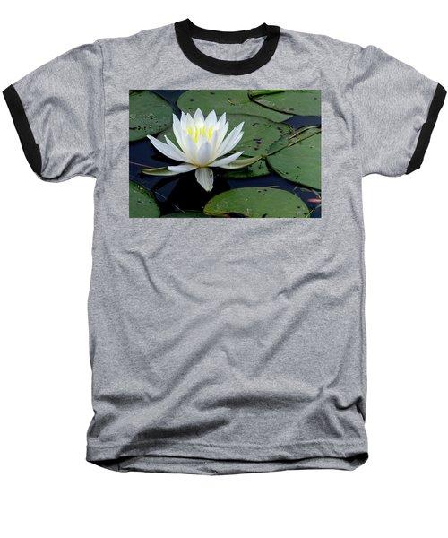 White Water Lilly Baseball T-Shirt