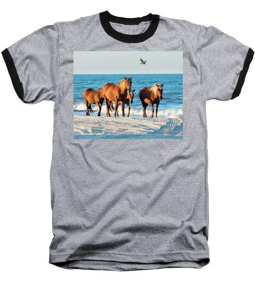 Wild Colonial Spanish Mustangs Of Carova Baseball T-Shirt