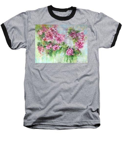 Wild Roses Baseball T-Shirt