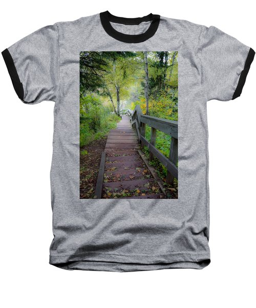 Winding Stairs In Autumn Baseball T-Shirt