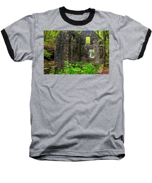 Baseball T-Shirt featuring the photograph Window To The Waterfall by Andy Crawford