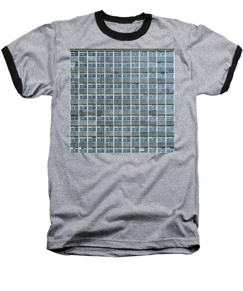 Windows Pattern Modern Architecture Baseball T-Shirt