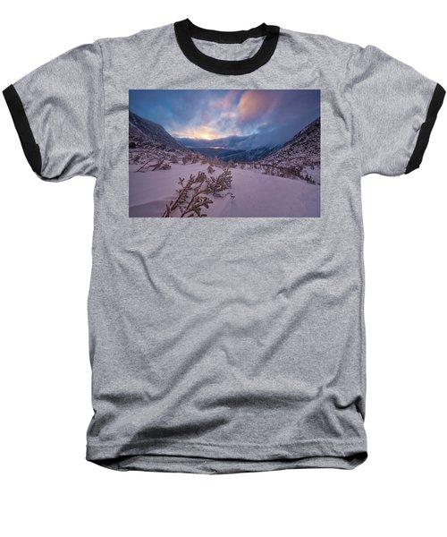 Windswept, Spring Sunrise In Tuckerman Ravine Baseball T-Shirt