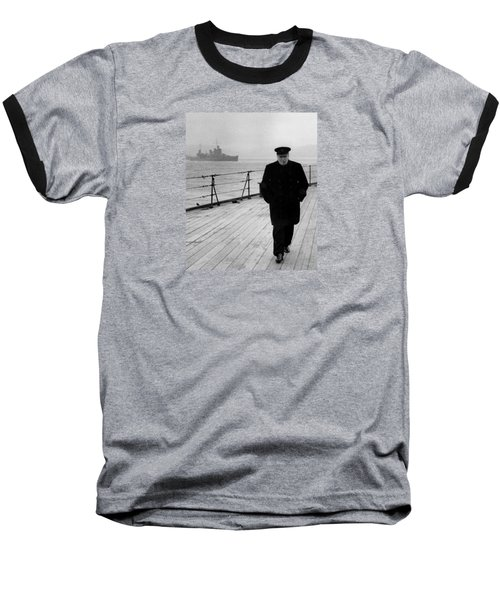 Winston Churchill At Sea Baseball T-Shirt