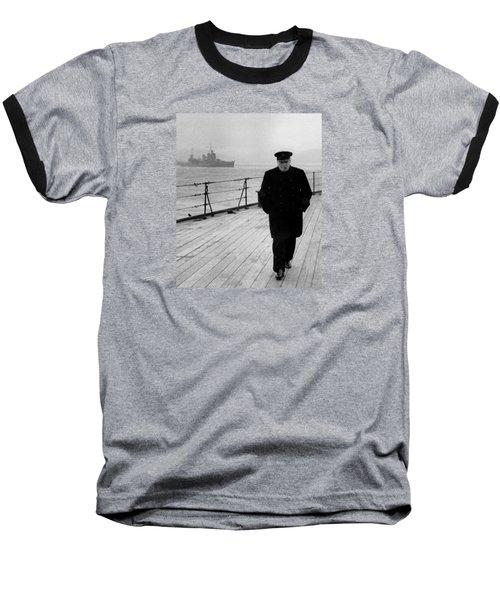 Winston Churchill At Sea Baseball T-Shirt