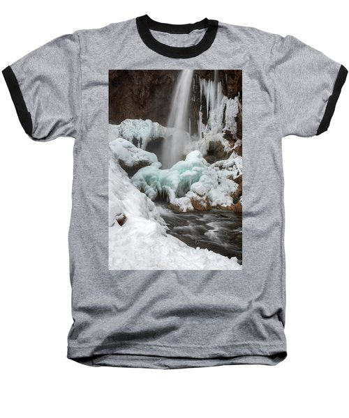 Winter At Rifle Falls Colorado Baseball T-Shirt