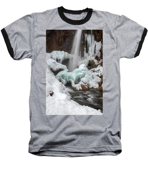Winter At Rifle Falls Colorado Baseball T-Shirt