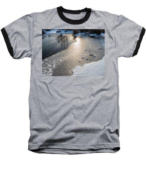 Winter Landscape At Whitesbog Baseball T-Shirt