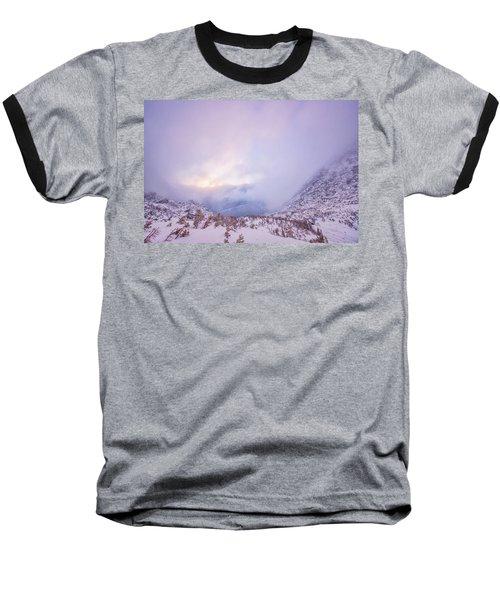 Winter Morning Light Tuckerman Ravine Baseball T-Shirt