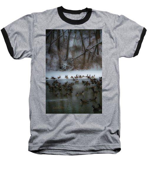 Winter Swim Baseball T-Shirt