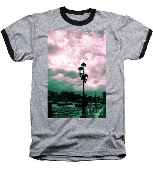 Winter Venice Lantern On The Embankment Baseball T-Shirt