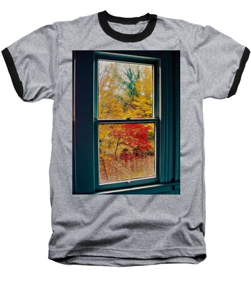 Winter Window Baseball T-Shirt