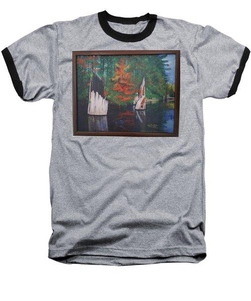 Wolf Lake On Vancouver Island  Baseball T-Shirt