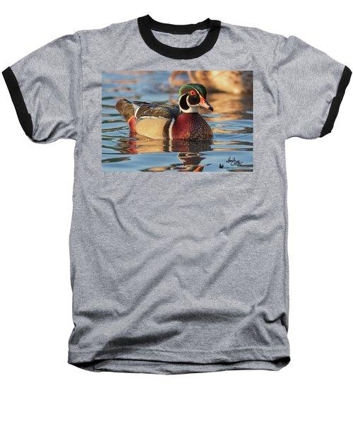 Wood Duck 4 Baseball T-Shirt