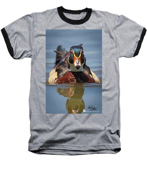 Wood Duck Face First Baseball T-Shirt