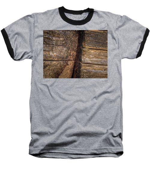 Wooden Wall Baseball T-Shirt