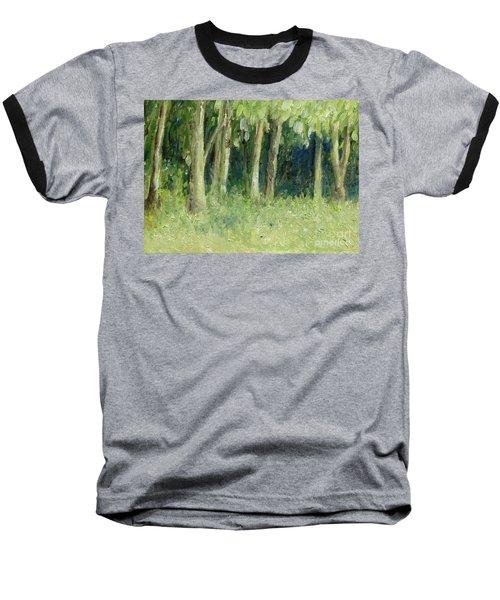 Woodland Tree Line Baseball T-Shirt