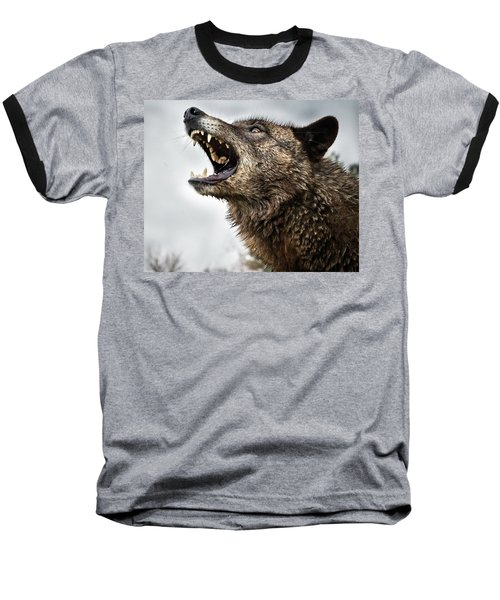 Woof Wolf Baseball T-Shirt