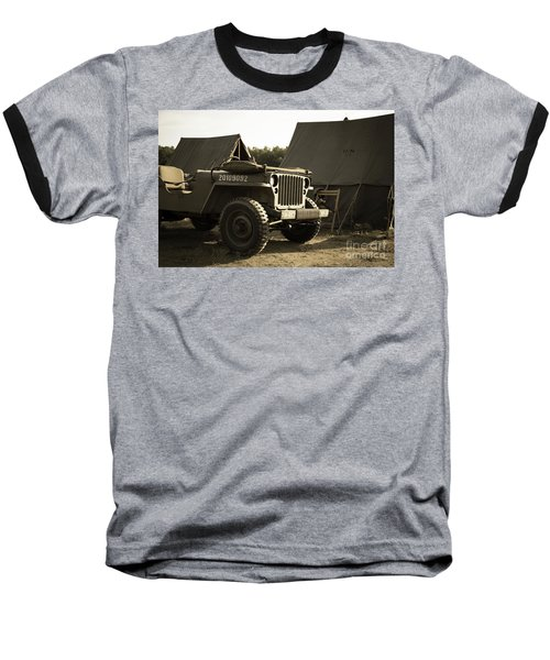 World War II Us Army Camp Baseball T-Shirt