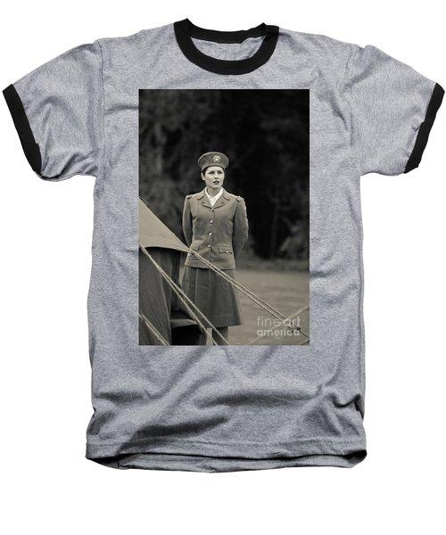 World War II Woman Baseball T-Shirt