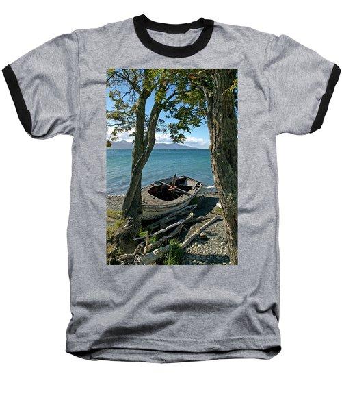 Wrecked Boat Patagonia Baseball T-Shirt