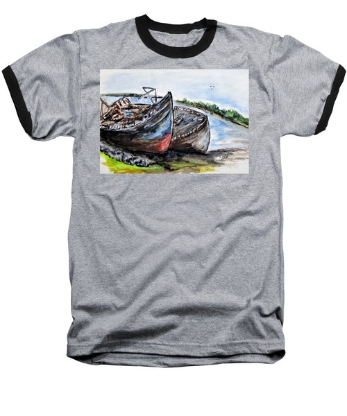 Wrecked River Boats Baseball T-Shirt