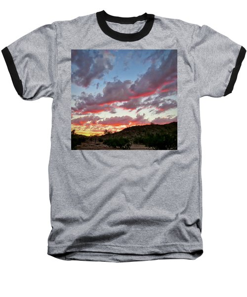 Baseball T-Shirt featuring the photograph Y Cactus Sunset  11 by Judy Kennedy
