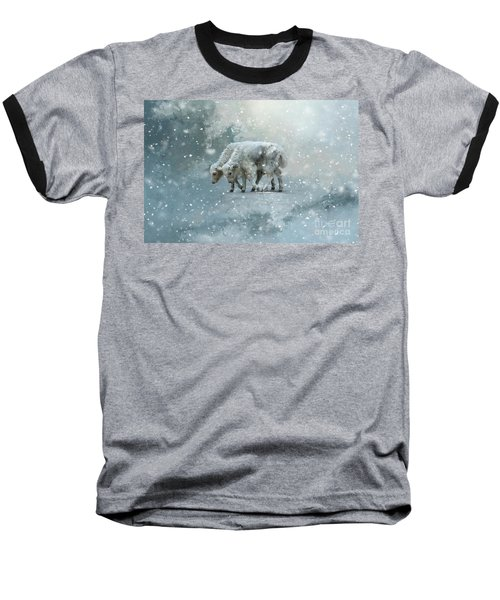 Yaks Calves In A Snowstorm Baseball T-Shirt