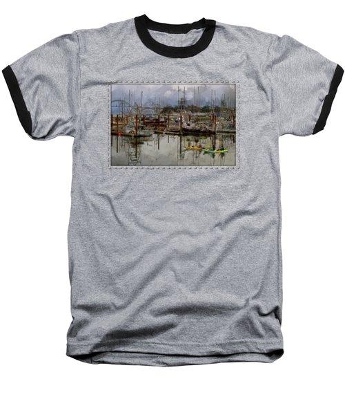 Yaquina Bay Kayaking Baseball T-Shirt