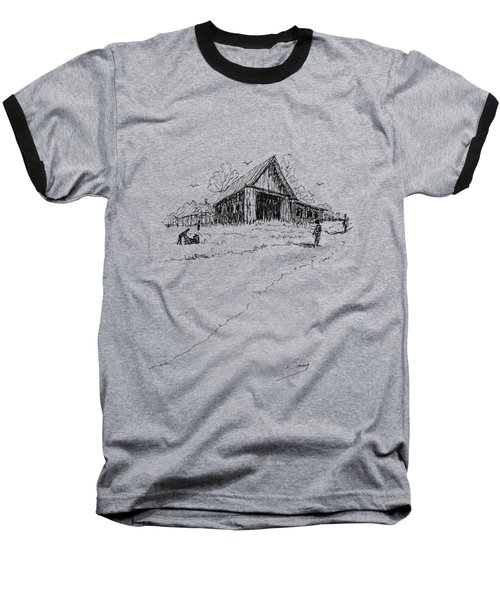 Yard-work On The Farm Baseball T-Shirt
