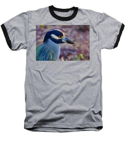Yellow-crowned Night Heron Baseball T-Shirt