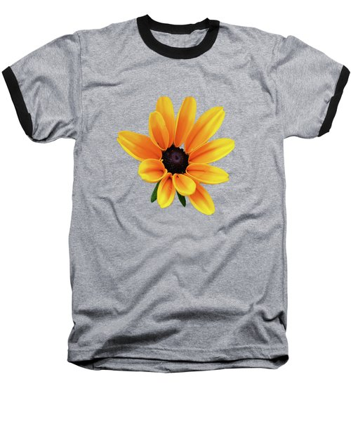 Yellow Flower Black Eyed Susan Baseball T-Shirt